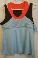 NWT LUCKY IN LOVE Women's Sz XL Athletic Tank Work Out Top w/ Bra