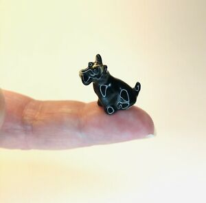Smallest Tiny Miniature Scottish Terrier Ceramic Ornament 🐾Scotty Dog🐾