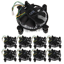 Lot 10x 4Pin CPU Heatsink Cooling Fan for Intel Core2 LGA775 LGA Socket Black US