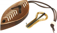 Jews Harp Dark Wooden Case Mouth Musical Instrument Original Quality Clear Sound