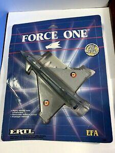 """NEW ERTL Force One """"EFA NATO FIGHTER"""" Metal Die-Cast Plane (SEALED PKG.) 1989"""