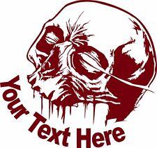 Custom Skull Name Text Lineman Gothic Sign Car Truck Window Vinyl Decal Sticker