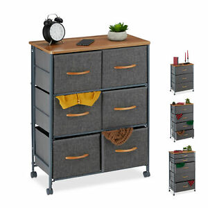 Chest of Drawers on Castors, Fabric Dresser, Shelving System, Sideboard