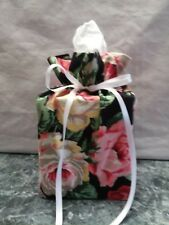 Lots Roses Pink Red White Yellow Cotton Fabric Handmade square Tissue Box Cover
