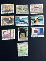 JAPAN 1980-1982 Japanese  SONG SERIES 10 Pcs Stamps, Used