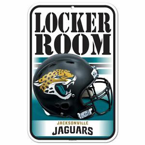 "JACKSONVILLE JAGUARS LOCKER ROOM PLASTIC SIGN 11""X17"" DURABLE POSTER NFL LICENSE"