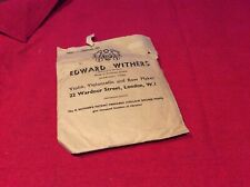 Replacement. Violin Strings. Edward Withers. Vintage.