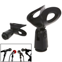 Mic Microphone Stand Accessory Flexible Plastic Clamp Clip Holder Mount FE