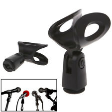 Mic Microphone Stand Accessory Flexible Plastic Clamp Clip Holder Mount WH