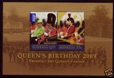 AUSTRALIA 2009 QUEENS BIRTHDAY MINIATURE SHEET FINE USED.