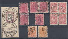Finland used Railway Post Office Cancels, 7 diff on early issues F-VF