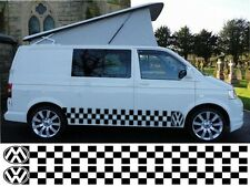 VW T4 T5 CADDY TRANSPORTER CHEQUERED CAMPER VAN GRAPHICS STICKERS DECALS