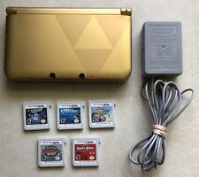 Nintendo 3DS XL Legend of Zelda Link Between Worlds Edition Console W/5 Games