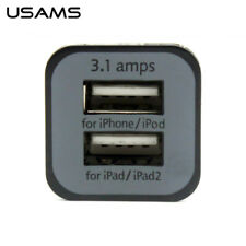 USAMS New Fashion 3.1A dual USB car charger for iPad2 Apple 5 iPhone6
