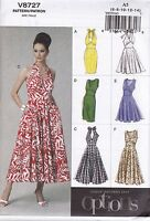 Vogue Sewing Pattern Misses' Easy Options Close Fitting Dress Size 6 - 20 V8727