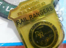 VERY RARE!  National Park Service Junior Rail Rangers Gold Badge & Activity Book