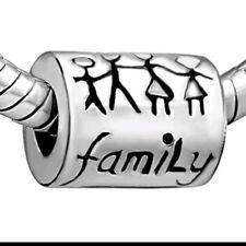 Family Charm Bead fits European Charm Bracelets love your family Charm CH23
