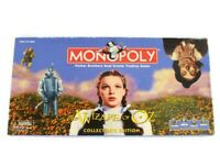 MONOPOLY Wizard of Oz Collector's Edition Board Game with 8 Pewter Tokens *RARE*