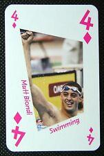 1 x playing card London 2012 Olympic Legends Matt Biondi Swimming 4D