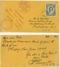 Jan 1944 Tonga WWII Tin Can Mail pc from Quensell to Crocker