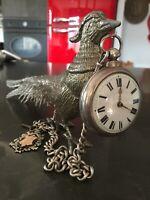 Antique Bronze Pocket Watch Holder Stand