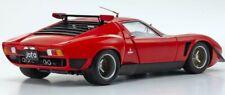 LAMBORGHINI MIURA SVR RED & BLACK 1:18 DIECAST MODEL CAR BY KYOSHO 08319 R