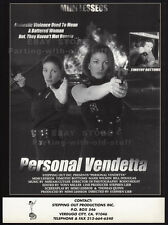 PERSONAL VENDETTA__Original 1995 Trade AD / promo__MIMI LESSEOS__TIMOTHY BOTTOMS