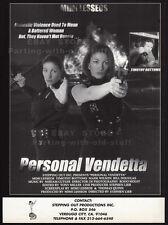 PERSONAL VENDETTA__Original 1995 Trade AD / promo__MIMI LESSEOS__TIMOTHY BOTTOMS