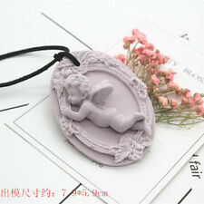 Angel Aromatic Gypsum Craft Pendant Molds 3D Chocolate Soap Making Silicone Mold