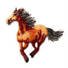 Bügelbild Aufnäher grau 7,9x6,4cm Patches Aufbügeln Pferd Tier