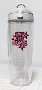 Tervis 24oz Water Bottle Lid Live to Dance Patch Emblem Clear Grey