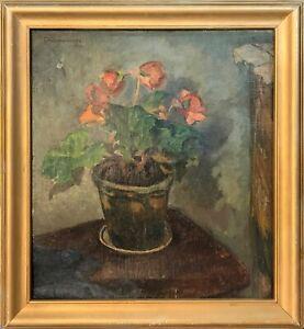 Clemmen Clemmensen (1885-1964): FLOWERS IN A POT