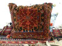 Vintage Rust Red Brown Middle Eastern Carpet floor meditation cushion new liner