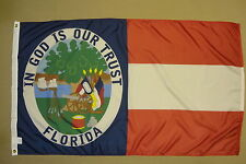 Florida 1861 State CSA Historical Indoor Outdoor Dyed Nylon Flag Grommets 3'x5'