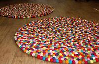 150 cm Multicolored Pom Pom felt balls Rug Nursery mat handmade Home and office