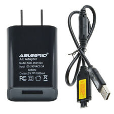 USB AC/DC Power Adapter Battery Charger+USB Cord For Samsung ST6500 WB700 Camera