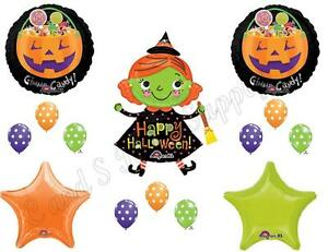 HALLOWEEN WITCH CANDY Party Balloons Decoration Supplies Trick Or Treat Ghosts