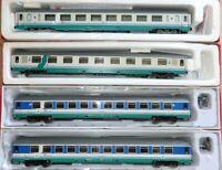 ACME Set 4 carrozze XMPR e PAX , logo Trenitalia verde/rosso SIBARI-PAOLA