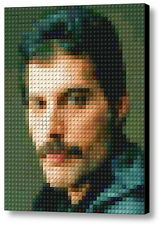 Queen Freddie Mercury Lego Framed Mosaic Limited Edition Numbered Art Print