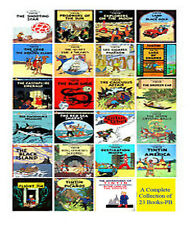 Tintin Comic Books Series Set for Children - Brand New 23 Graphic Books by Herge