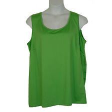 Catherines Sleeveless Timeless Knit Tank Top Apple Green Plus Size 2X 22W 24W