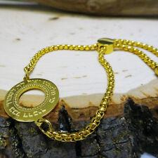Small Gold Blessing Pendant Chain Bracelet