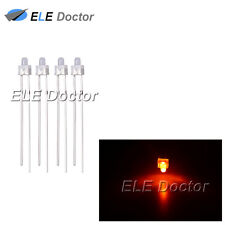 500pcs 2mm Diffused White-Orange Light DIP Round Top LED Diodes High Quality