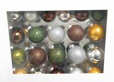 Weihnachts Baum Kugeln Restposten - 40 Kugeln in Grün, Braun & Silber - Neuware