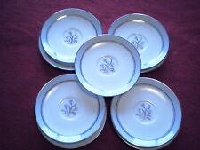 NORITAKE china BLUEBELL pattern 5558 Saucers - Set of Eight (8)