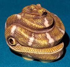 Harmony Kingdom EMERALD Snake Pendant TREFOIL Version - RARE Signed - LE 50 Boa