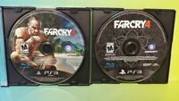 Farcry 3 + 4 Far Cry  -  Sony PlayStation 3 PS3 Lot Game Tested & Working