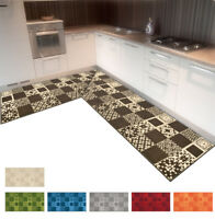 Tappeto cucina bagno angolare o passatoia su misura al metro bordata mod.AMBRA