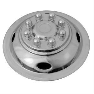 "Dodge 16"" 8 lug motorhome hubcaps rv simulators snap on stainless steel front"
