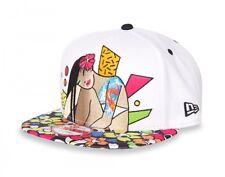 Tokidoki Men Rad Chick Snapback Cap Hat White-5115